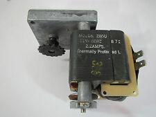 Molon Electric Motor with Gear Box, Boston Gear, Z80U, 115 Volts, 2.2 Amps