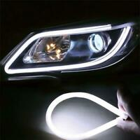 Flexible Soft Tube Car LED Strip White DRL Signal Light 6000K Car Headlight 30CM