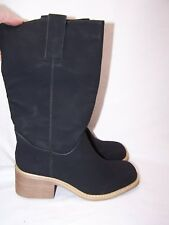 MOMO Black BOOT - WEDGE - SIZE 6 -Sexy Faux Suede New