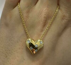 Tiffany & Co. 18ct Yellow Gold and Diamond Etoile Heart Necklace