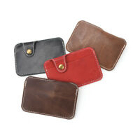 Slim Wallet Money Clip Credit Card Holder ID Business Mens Leather Coin PuP NT