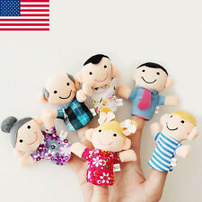 16PCS Story Finger Puppets Animals People Family Members Kids Educational Toy US