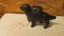 Antique Cast Iron Newfoundland Dog Bank  No. 2