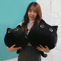 40/55cm Black Cat Stuffed Plush Soft Toy Valentine Day Kitten Doll Gift Ornament