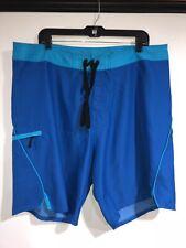 Men's 9.5 Cat Pineapple Print Board Shorts Short Blue