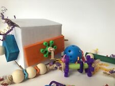 2 Parrot Surprise Foraging Toy Boxes~Filled With Fun For Medium To Large Birds