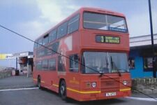 BUS PHOTO PHOTOGRAPH,SOUTHERN VECTIS PICTURE LEYLAND OLYMPIAN EX RED ROUGE 713.