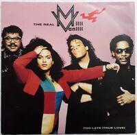 "The Real Milli Vanilli-Too Late (True Love) 12"" Single.1991 Chrysalis CHS 123686"