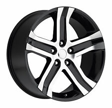 "NEW! Set (4) 22"" 22x9 Dodge Ram 1500 Dakota Durango Wheels Rims Machined Black"