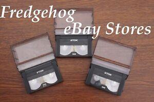 3 x TDK P5-90 HMP VIDEO CAMCORDER CASSETTES TAPE FOR HI8/ DIGITAL 8 & VIDEO 8MM