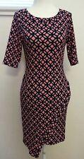 Snap Women's Casual Mini Short Sleeve Multi-Color Dress Size Medium