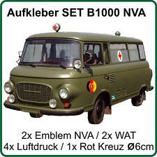Aufkleber Set für Barkas B1000 Bus mit Emblem NVA DDR Wat-Zeichen und Luftdruck