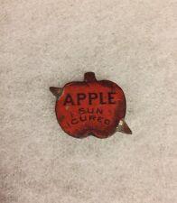 Vintage Apple Sun Cured Brand Metal Tobacco Plug Tag