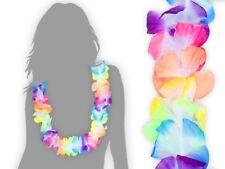 48 Stk. Hawaiiketten Karneval Party-Deko Hula Kette Hawai Blumen-Kette bunt 02