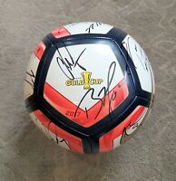 2017 USA Soccer Team Signed Soccer Ball Gold Cup Proof Dempsey Howard Arena NIKE