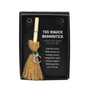 Mini Magick Broomstick Crescent Moon Charm for good luck