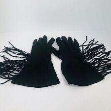 Geier Deerskin Fringe Gloves Size 8.5 Motorcycle Western Wear Work Gloves black
