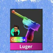 MM2 CHROMA LUGER GODLY gun Roblox Murder Mystery 2 CHEAP FAST DELIVERY knife