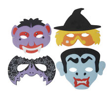 6 Foam Halloween Masks - Toy Loot/Party Gift Bag Filler Wedding/Kids