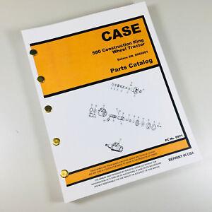 CASE 580CK 580 CK TRACTOR for LOADER BACKHOE PARTS MANUAL CATALOG