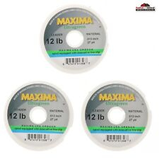 3 Wheel Maxima Leader Tippet 12lb Fishing Line Ultragreen - New