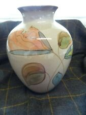 Vintage Denby Hand Painted Country Cottage Vase 20cms high - perfect