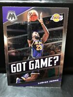 "2019-20 Panini Mosaic LeBron James ""Got Game ?"" Base Insert #7 Lakers"