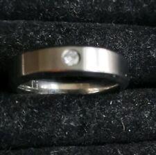 MENS Ti Titanium Ring 13mm Diameter Small Stone