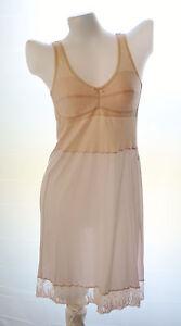 Ladies nylon full slip cotton bra slip with lace no.158 peach size 36A