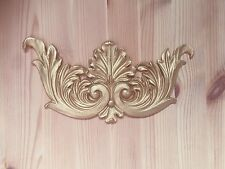 Large Gold Shabby Chic Furniture Leaf Scroll Resin Applique Onlay Moulding