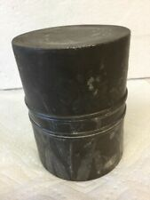 Rare Antique Japan Military Engraved Trench Art Shell Tobacco Humidor Jar