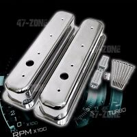 ALUMINUM 87-97 CHEVY 5.0L 5.7L CENTER BOLT TALL VALVE COVERS SMOOTH - POLISHED