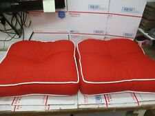 New listing Lot Of 2 Outdoor Elite Cushions Cardinal Red New Fast/Free Shipping