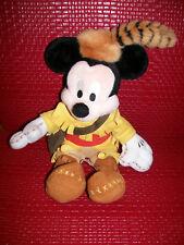 WALT DISNEY World Mickey Mouse Frontierland Daniel Boone Retired Plush RARE