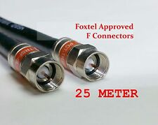 25 Meter Coax Cable Foxtel Austar Vast Optus Fly Lead F Type Antenna Aerial Cord
