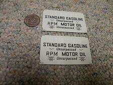 Herald King decals HO Standard Gasoline RPM Motor Oil black - 2 sheets  XX367