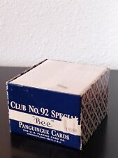 Vtg. BEE Club No. 92 Special Panguingue Playing Cards Full Unopened Deck BLUE