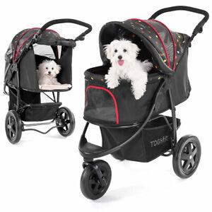 Togfit Pet Roadster - Hundewagen Hundebuggy / Haustier Buggy bis 32 kg Schwarz