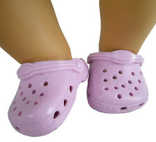 Lavender Kroc Krocs Clog Summer Shoes For Bitty Baby + Twins Doll Clothes