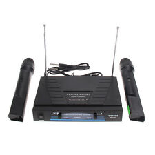 Wireless Microphone System Dual Mic Handheld Mic Cordless Receiver