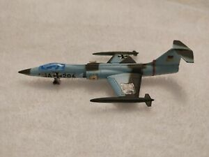 Lintoy F-104A German Starfighter plane Made In Hong Kong