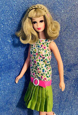 Vintage Mod 1968 Francie Casey Twiggy Slightly Summery Pak Dress + Boots