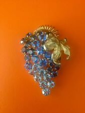 Collectible Castlecliff Ombré Crystal Brooch