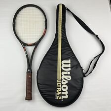 RARE! Wilson Ultra 2 Largehead Tennis Racket Grip 4 3/8L With Case EUC