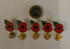 5 X DATED POPPY BADGES