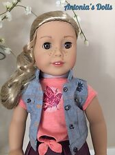 """American Girl Tenney Grant Doll & Book New NIB 18"""" with Woven Bracelet Tenny"""
