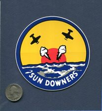 Decal VF-111 SUNDOWNERS US NAVY F-14 TOMCAT Fighter Squadron Patch Image