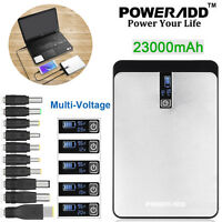 Poweradd External 23000mAh Power Bank USB Battery Charger For Phone PC Laptop US