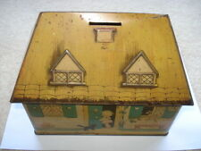 1933 WILLIAM CRAWFORD&SONS MABEL LUCIE ATTWELL BICKIE HOUSE SHAPED TIN