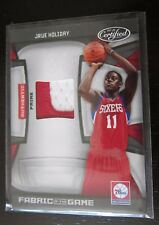 2009-10 PANINI CERTIFIED FABRIC OF THE GAME JRUE HOLIDAY 2 COLOR PATCH 12/25